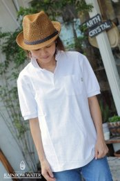 HEMP&COTTON ポロシャツ / WHITE