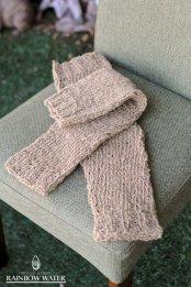 HEMP COTTON 手編み レッグウォーマー / 草木染めLIGHT BROWN