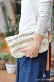 HEMP100% 手編み クラッチバッグ