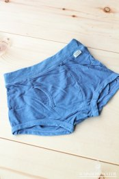 【LINEN COTTON】 Kid's ボクサーパンツ / 藍染めLIGHT INDIGO