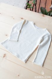 HEMP ORGANIC COTTON キッズ ロングスリーブTシャツ FleeceBrushed / NATURAL WHITE