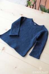HEMP ORGANIC COTTON キッズ ロングスリーブTシャツ FleeceBrushed / 藍染めINDIGO