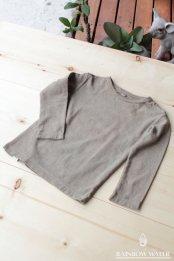 HEMP COTTON キッズ ロングスリーブTシャツ / 草木染めGRAY