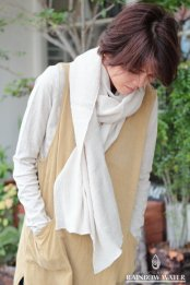 LINEN COTTON ストール / NATURAL OFF WHITE