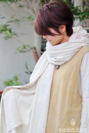 LINEN COTTON 大判ショール / NATURAL OFF WHITE