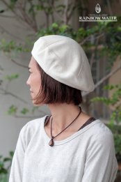 HEMP COTTON ベレー帽 / NATURAL OFF WHITE