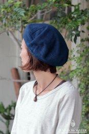 HEMP COTTON ベレー帽 / 藍染めINDIGO