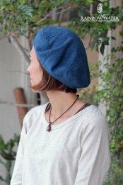 HEMP COTTON ベレー帽 / 藍染めLIGHT INDIGO