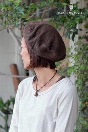 HEMP COTTON ベレー帽 / 草木染めDARK BROWN