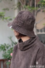 HEMP COTTON ハット / 草木染めDARK BROWN
