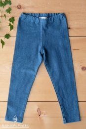 HEMP ORGANIC COTTON キッズ レギンス / 藍染めLIGHT INDIGO