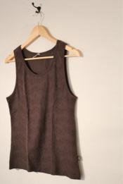 "HEMP COTTON ""CRYSTAL PRINT"" メンズタンクトップ / DARK BROWN"