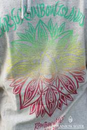 Lady's Back Print T-シャツ 「RYUKYU RAINBOW ISLAND」