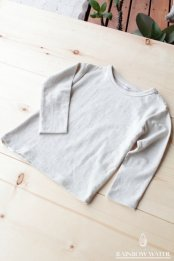 HEMP COTTON キッズ ロングスリーブTシャツ / NATURAL OFF WHITE