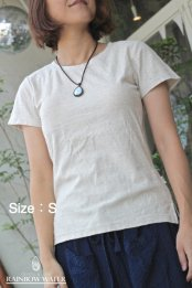 <img class='new_mark_img1' src='//img.shop-pro.jp/img/new/icons53.gif' style='border:none;display:inline;margin:0px;padding:0px;width:auto;' />HEMP LINEN ORGANIC COTTON レディース パッド入りT-シャツ
