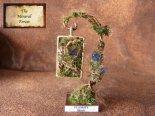 鉱物植物標本 八面体フローライトの植物標本 (The Mineral Forest)