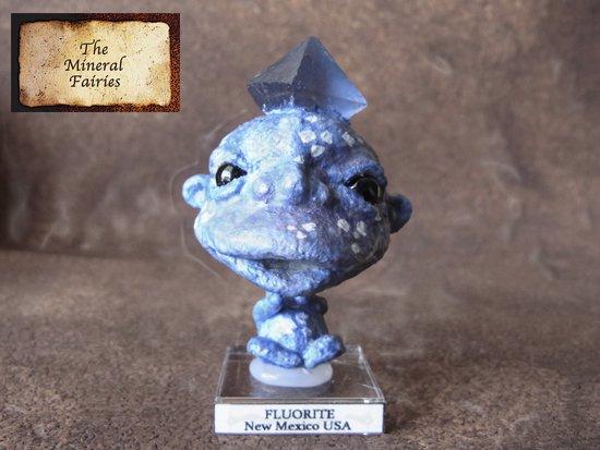 鉱物妖精標本ニューメキシコ産フローライトの妖精2(The Mineral Fairies)