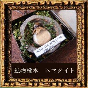 鉱物植物標本 ヘマタイト(シャーマンストーン・モキマーブル)の植物標本8ペンダント (The Mineral Forest)