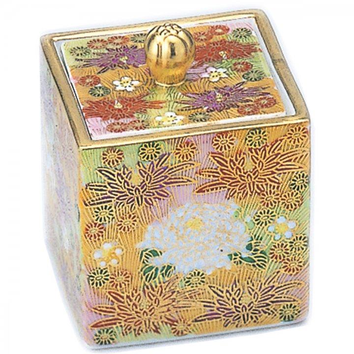 九谷焼 金花詰 | 四角の骨壺