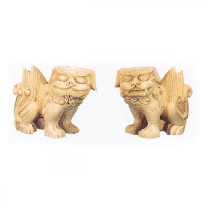 木彫狛犬(一対)- 3寸 |神棚