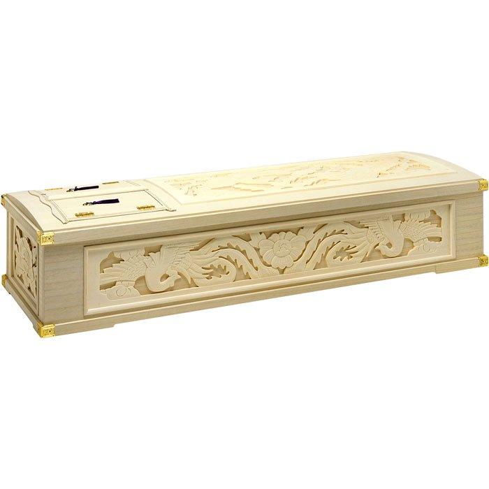 五面彫刻インロー棺 木製の棺・完成棺(棺桶)