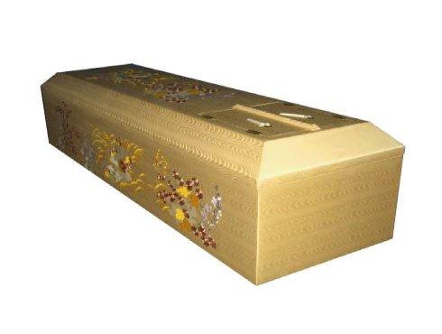 布張り刺繍棺 - 椛花|布張の棺(棺桶)
