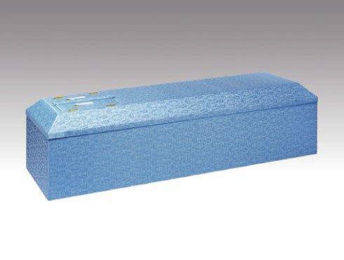 ブルー棺|布張の棺(棺桶)