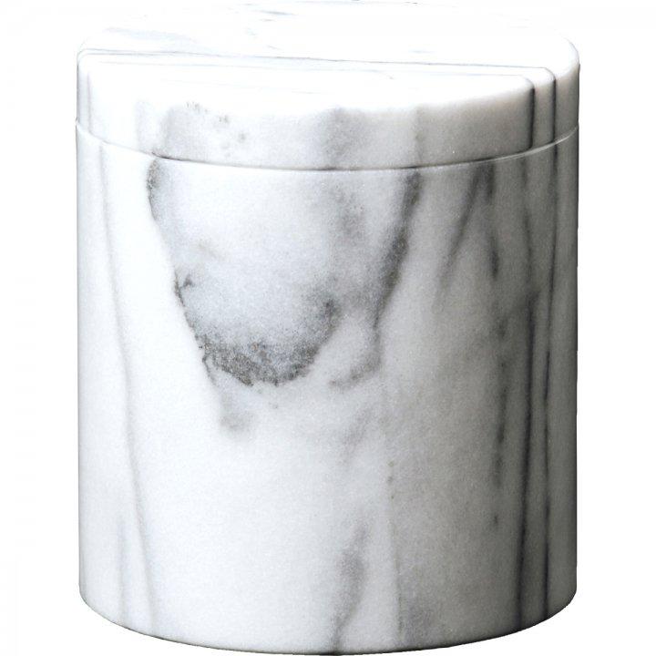 白大理石 - 4寸 大理石の骨壷(骨壺)