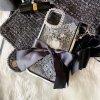 Hime.レースシートインリボンリングスタンド両面強化ガラス iphone11/11pro/11proMAX/6/7/8/X/Xs/Xr/XsMAX/新SEフランス製ケース