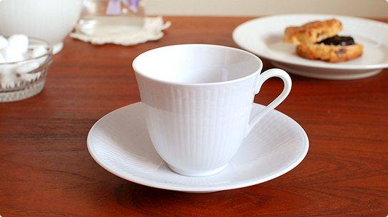 Rorstrand│ロールストランド[Swedish Grace]コーヒーカップ&ソーサー(スノーホワイト)