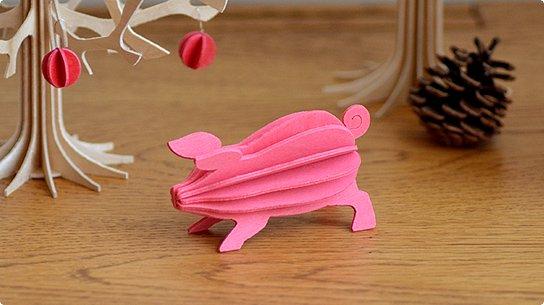 lovi│ロヴィ グリーティングカード[Pig](light pink)