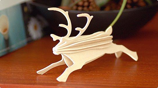 lovi│ロヴィ オーナメントカード[Reindeer](natural wood)