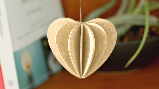 lovi│ロヴィ グリーティングカード[Heart](ナチュラル)