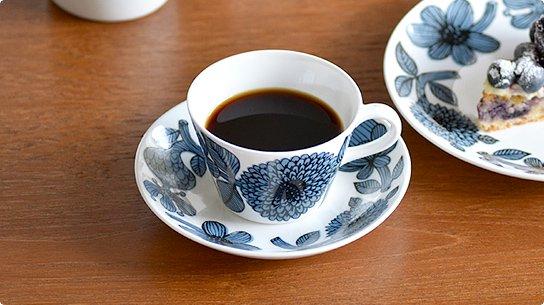 Gustavsberg│グスタフスベリ[BLUE ASTER(ブルーアスター)]コーヒーカップ&ソーサー