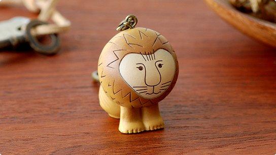Lisa Larson│リサ・ラーソン[Masterpiece] Lion(ライオン) キーホルダー