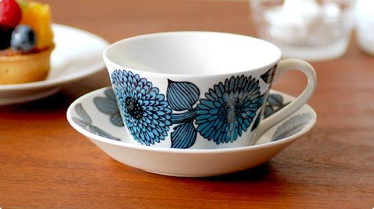 Gustavsberg│グスタフスベリ[BLUE ASTER(ブルーアスター)]ティーカップ&ソーサー