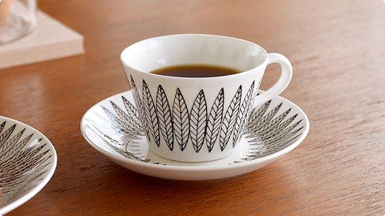 Gustavsberg│グスタフスベリ[SALIX BLACK(サリックス ブラック)]コーヒーカップ&ソーサー