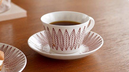 Gustavsberg│グスタフスベリ[SALIX RED(サリックス レッド)]コーヒーカップ&ソーサー