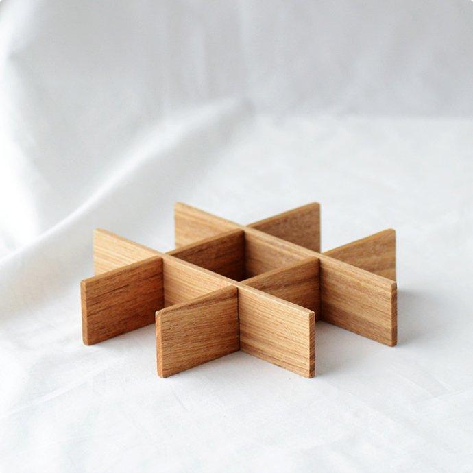 松屋漆器店 白木塗タモ[九つ切仕切り]6寸重箱用