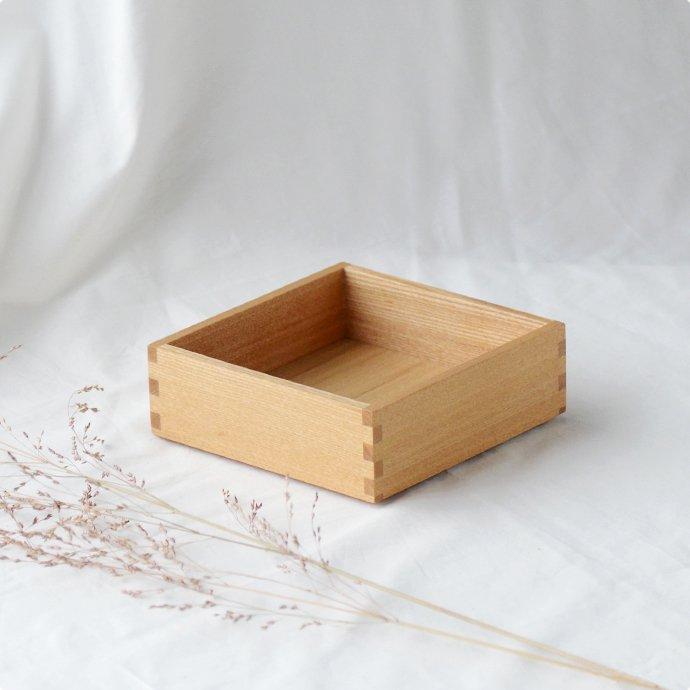 松屋漆器店 白木塗タモ[5寸]身 一段のみ(ハシュケ別注)