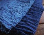 ●0.6mカットハギレ/藍染シングルガーゼ/濃