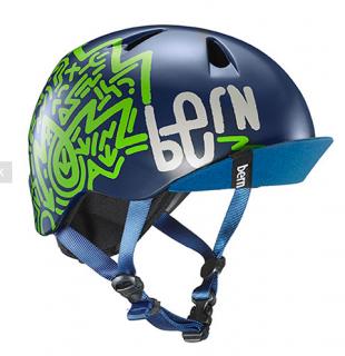 bern キッズサイクルヘルメット/ NINO - MATTE NAVY ZIG-ZAG(国内正規品)