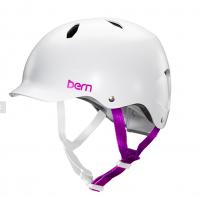 bern キッズサイクルヘルメット/ BANDITA -SATIN WHITE(国内正規品)