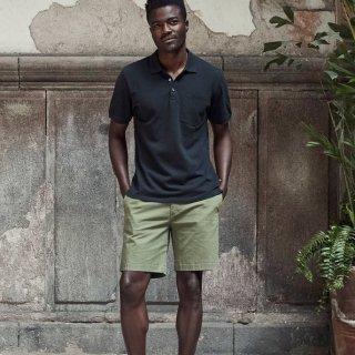 AETHER / PIQUE POLO-BLACK カジュアルになり過ぎない大人のポロシャツ