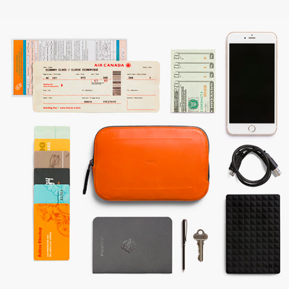 Bellroy ベルロイ/ All-Conditions Essentials Pocket -Burnt Orange  トラベル&冒険はこれひとつ持って。