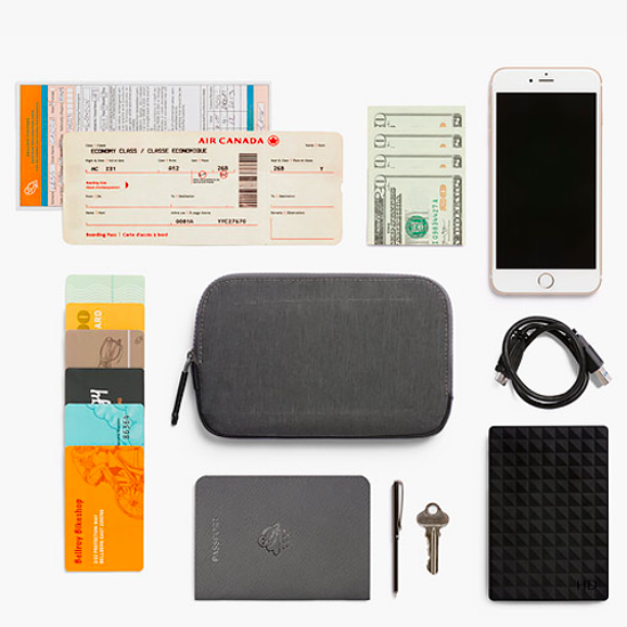 Bellroy ベルロイ/ All-Conditions Essentials Pocket -Woven Charcoal  トラベル&冒険はこれひとつ持っ…