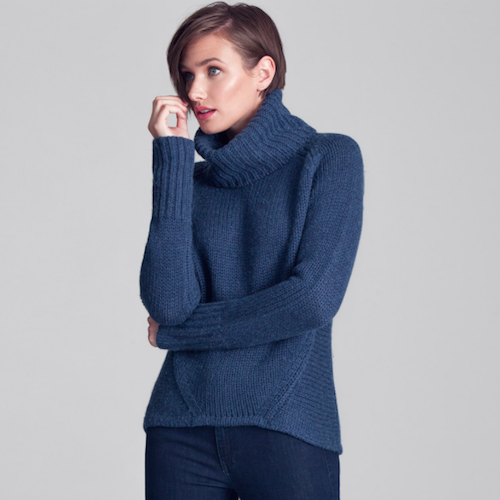 AETHER /HEARTH SWEATER-INSIGNIA BLUE  洗練とぬくもりの極みニット