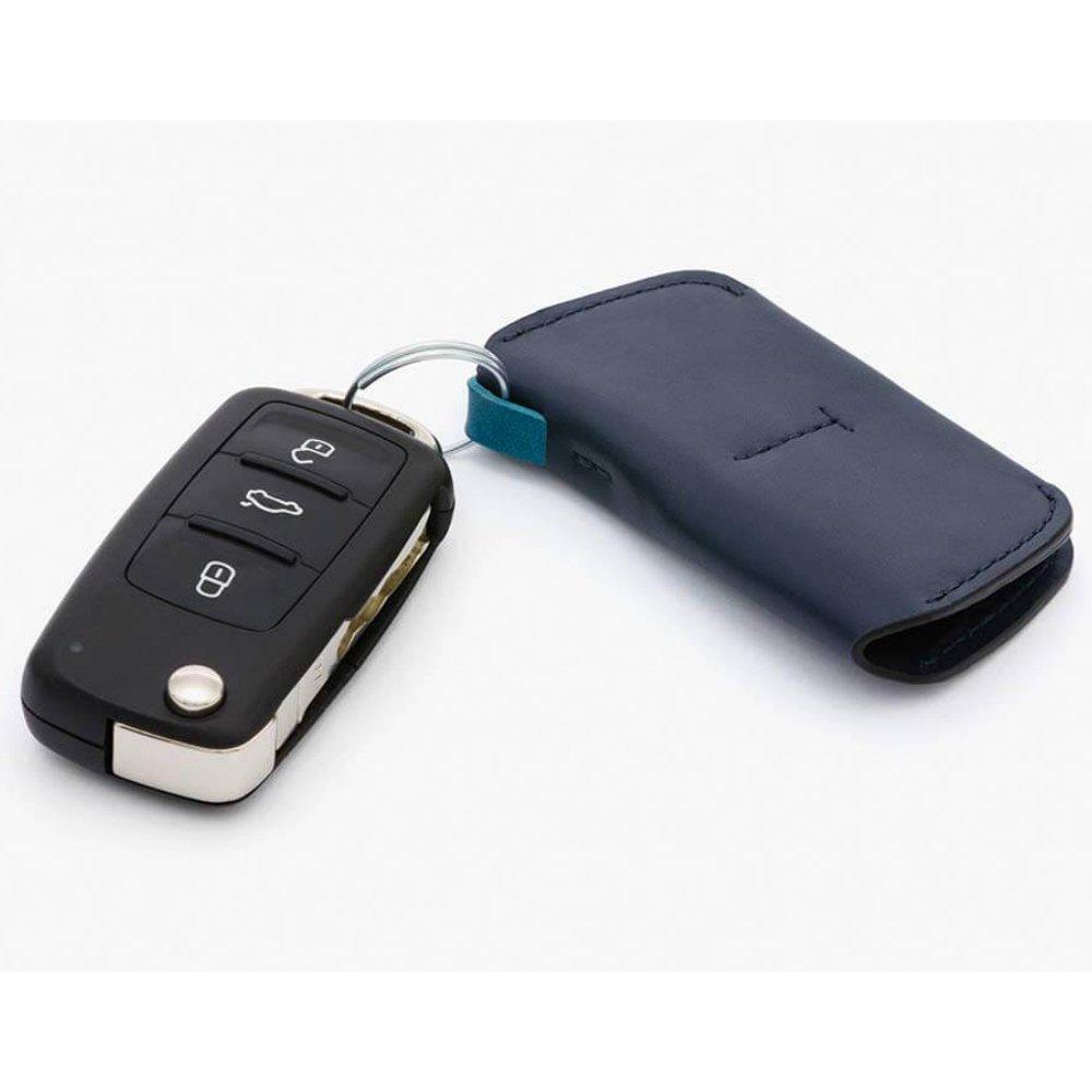 【在庫あり】Bellroy ベルロイ/ Key Cover キーホルダー -Blue Steel ブルー レザーホルダーで鍵もスリムに…