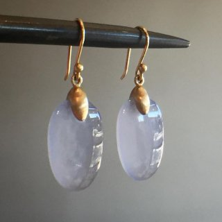 Ted Muehling /Blue Chalcedony Small Chip Earrings<br> ニューヨーク発。自然の美をとじこめた大人のためのジュエリー