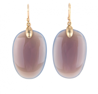Ted Muehling /Grey Agate Large Chip Earrings<br>ニューヨーク発。自然の美をとじこめた大人のためのジュエリー